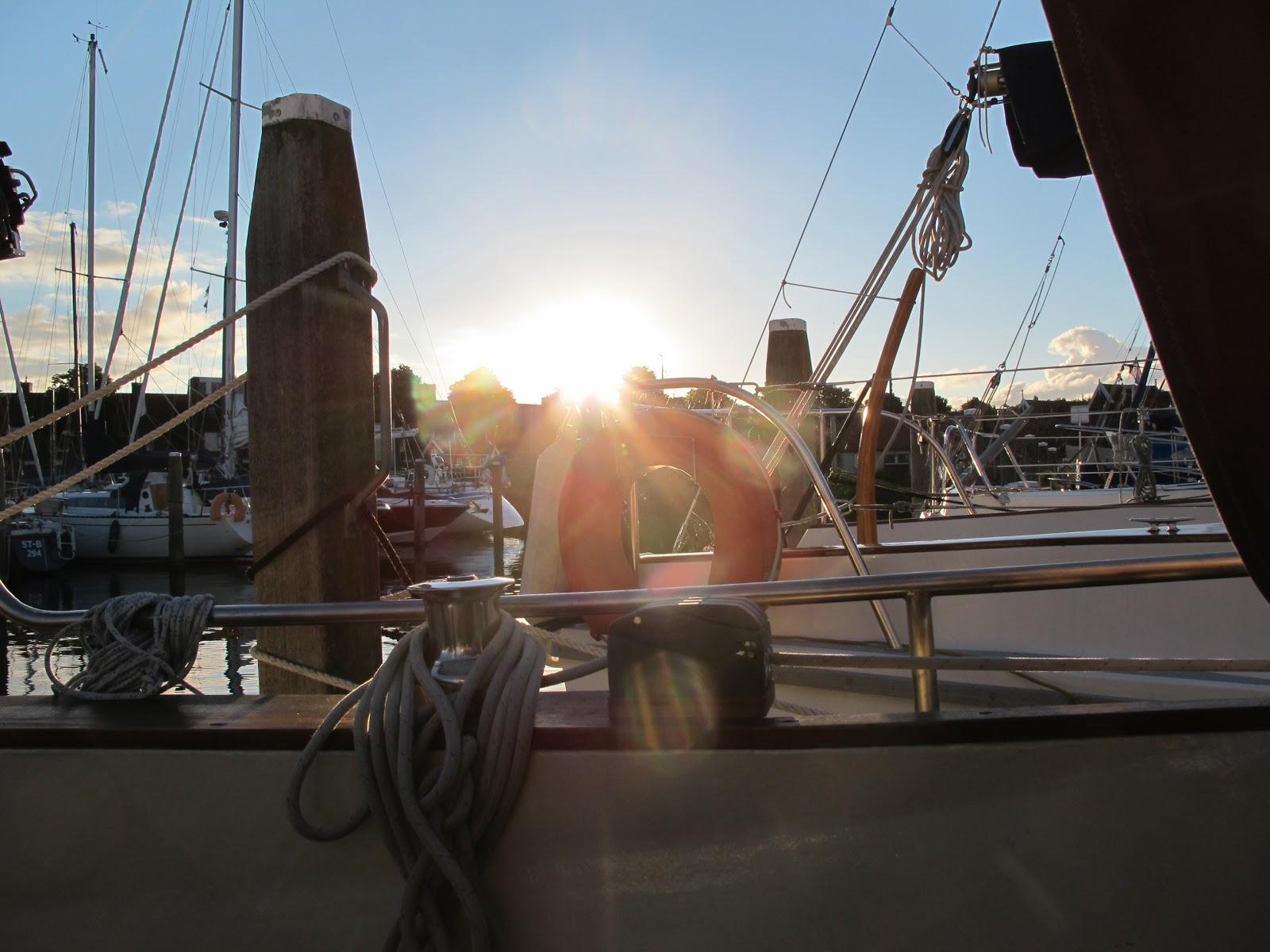 Sonnenuntergang im Compangniehafen