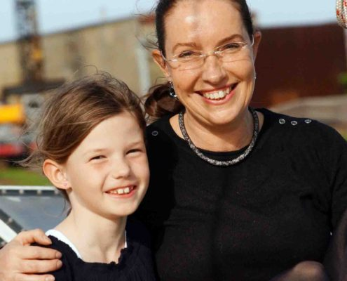 Aino die Taufpatin und meine Schwester