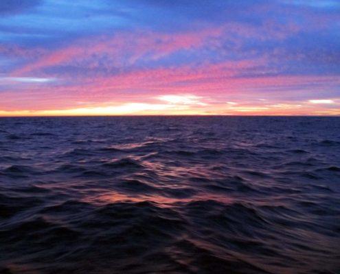Letzter Sonnenuntergang vor dem Cabo Finistrerre