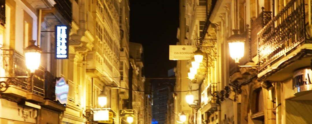Nachts in La Coruna