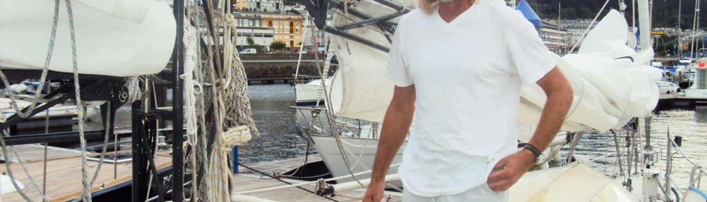 Raz und sein Mast in Viveiro