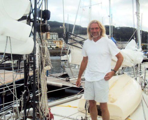 Raz - Ralf-Armin Zaeske und sein Mast in Viveiro