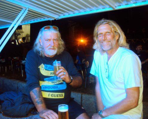 Rene und ich auf der Fiesta