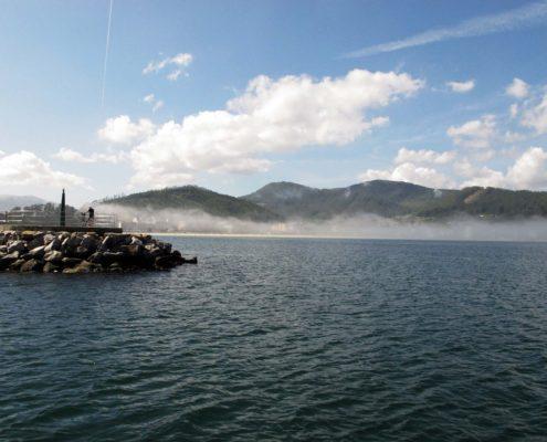 Nebel beim verlassen von Viveiro