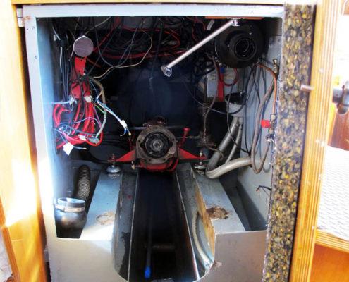 Leerer Maschinenraum