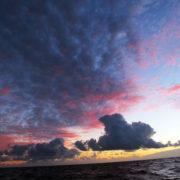 Sonnenuntergang vor dem Sturm