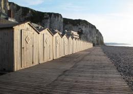 Dieppe - Wunderschöner Strand mit Häuschen