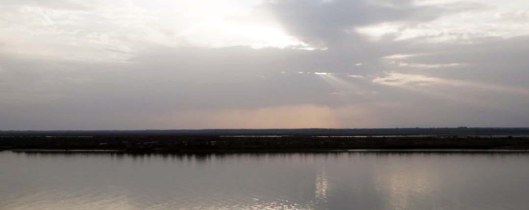 Huelva - Marsch Gebiet am Abend - Blick nach Punta Umbria