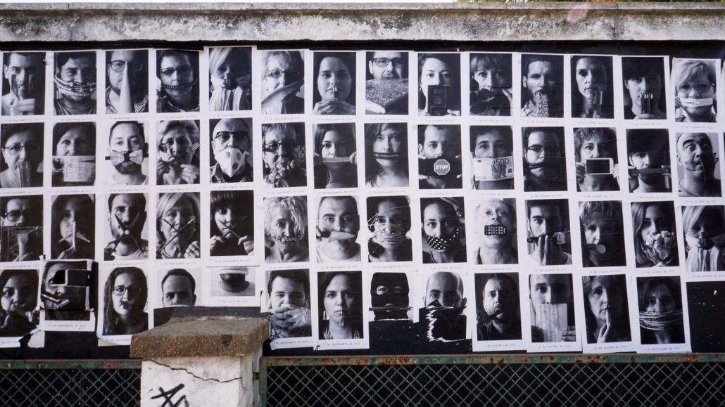 Huelva - Mauer im Englischen Viertel
