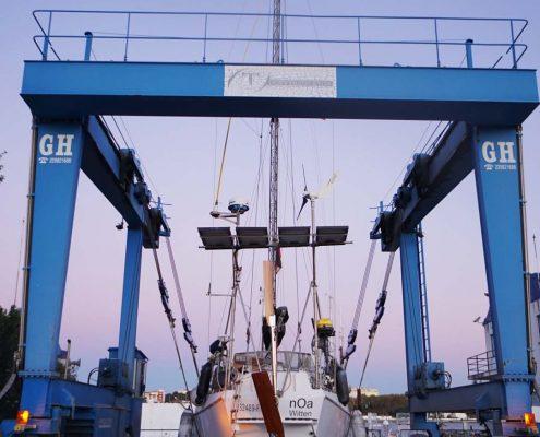 Amora - Tagus Yacht Center - Wieder im Winterlager