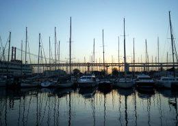 Lissabon - Doca de Alcantara - Abendstimmung