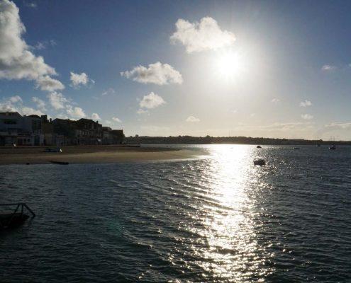 Seixal - Sonnenuntergang in der Bucht