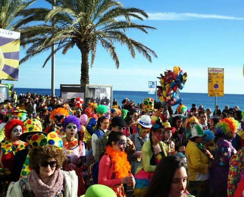 Karneval in Sesimbra - Montag Promenade - Heute nur Clowns