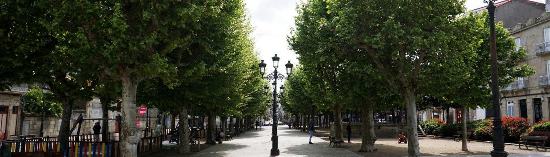 Vigo - Zentraler Platz in Bouzas