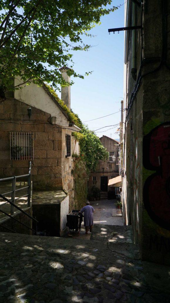 Vigo - Barrio Berbes - Blick in die Altstadt