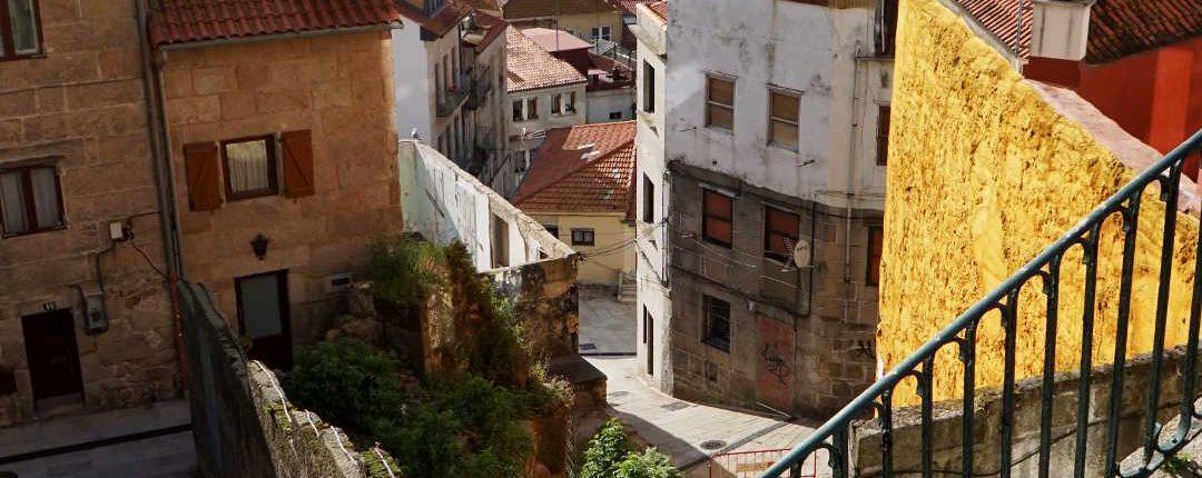 Vigo - Blick über die Altstadt in den Ria