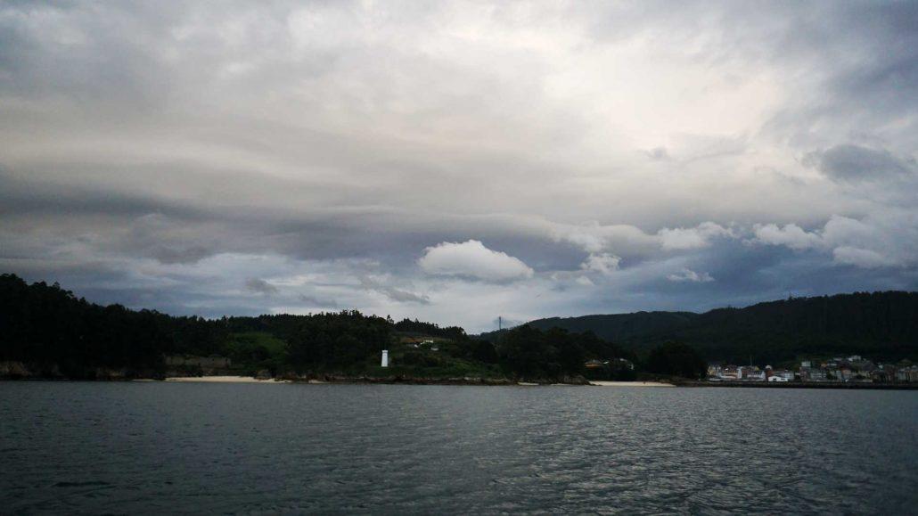 Ria de Baqueiro - Wolken über dem Ria