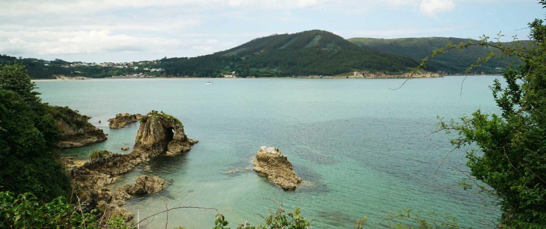 Ria de Baqueiro - Blick über den Ria