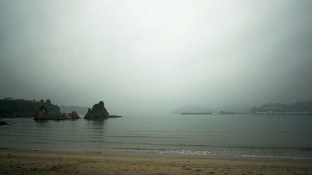 Covas - Friedliche Stimmung am Ria im Nebel