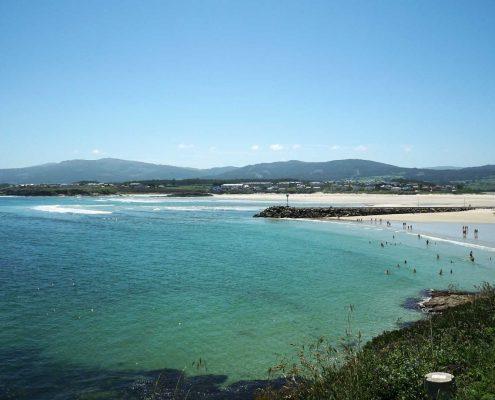 Foz - Ein schöner Strand - immer voll