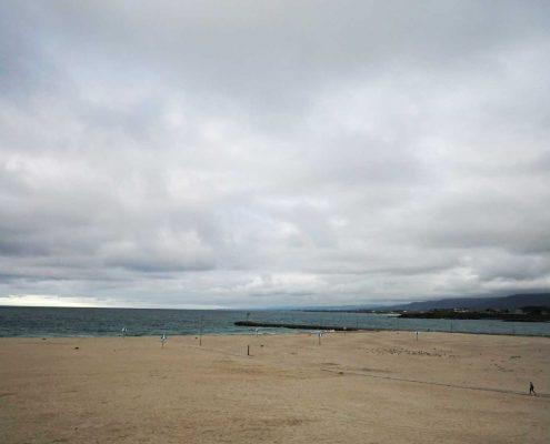 Foz - Ria mit Wolken