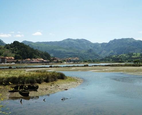 Ribadasella, Blick Richtung Pico de Europa