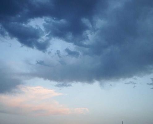 Wolken . . . In der Bucht von Bilbao