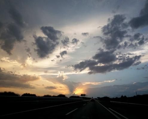 Wolken . . Irgendwo in der Spanischen Hochebene