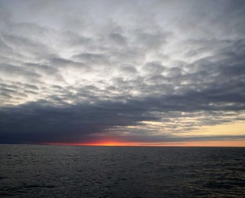 Sonnenuntergang vor Santander