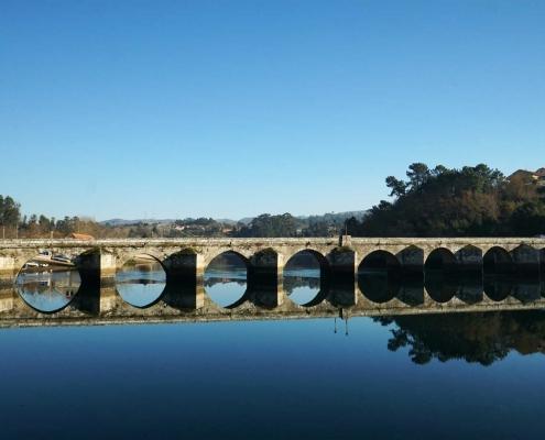 Rabaleira - Steinbrücke über den Ria de Vigo