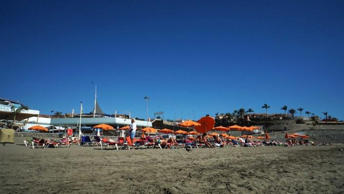 Pasito Blanco - Der Strand - am Südende von Gran Canaria
