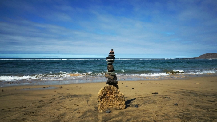Las Palmas - Steinstatue am Strand